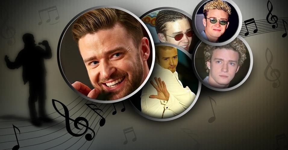 Justin Timberlake faz aniversário dia 31 de janeiro. Veja a seguir como a  cabeleira do 6c9f1b44246