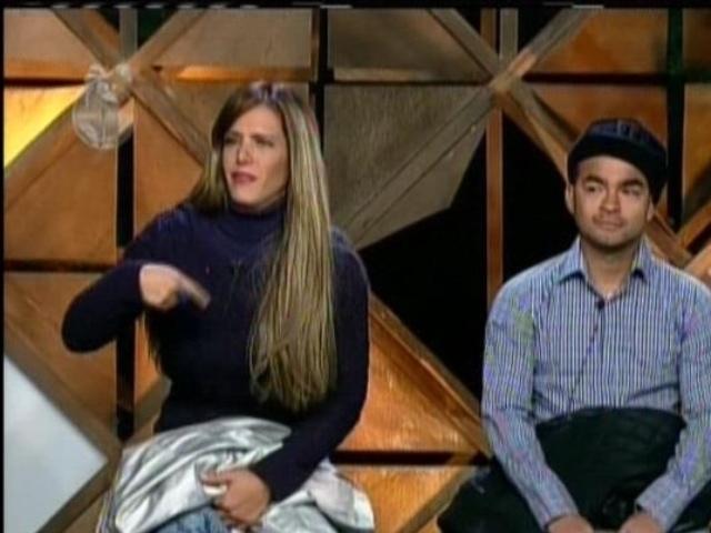 10.set.2013 - Denise e Yudi ao ouvirem o resultado da roça