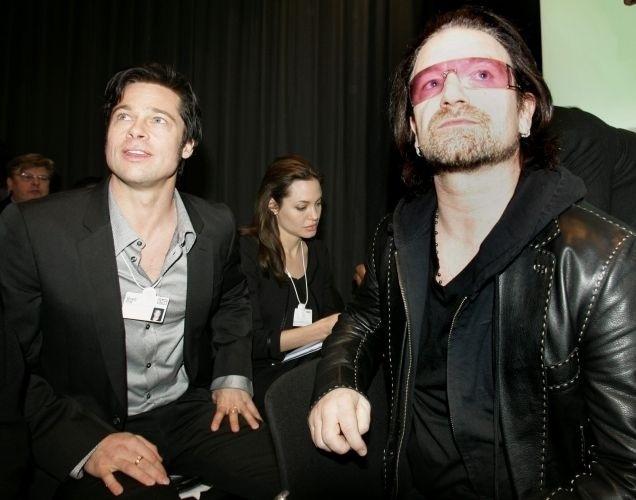 Moreno, como no Fórum Econômico Mundial de 2006, ao lado de Angelina Jolie e Bono