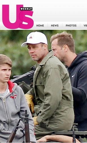 O ator Brad Pitt cortou o cabelo para viver seu novo personagem em