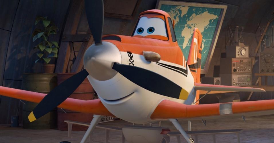 """Cena da animação """"Aviões"""", de Klay Hall, com vozes de Dane Cook e Teri Hatcher"""