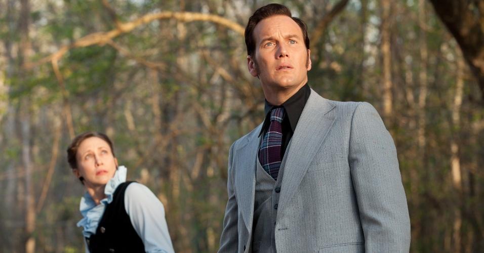 """Cena do filme """"Invocação do Mal"""", de James Wan, estrelado por Patrick Wilson"""
