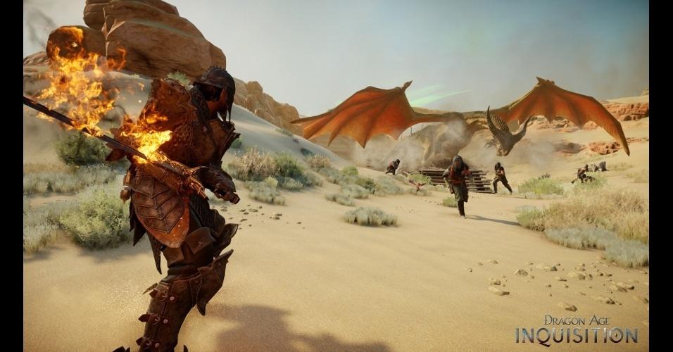 """""""Dragon Age: Inquisition"""" é o terceiro capítulo na saga da EA e promete corrigir problemas do título anterior"""