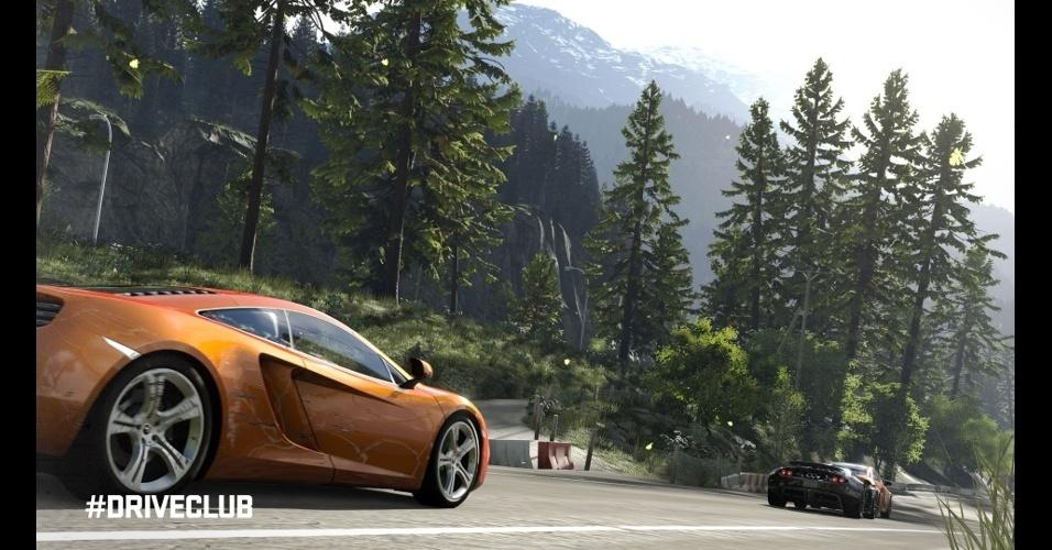 """Em """"DriveClub"""" (exclusivo do PS4), jogadores que queimarem o asfalto em grupo vão receber recompensas"""