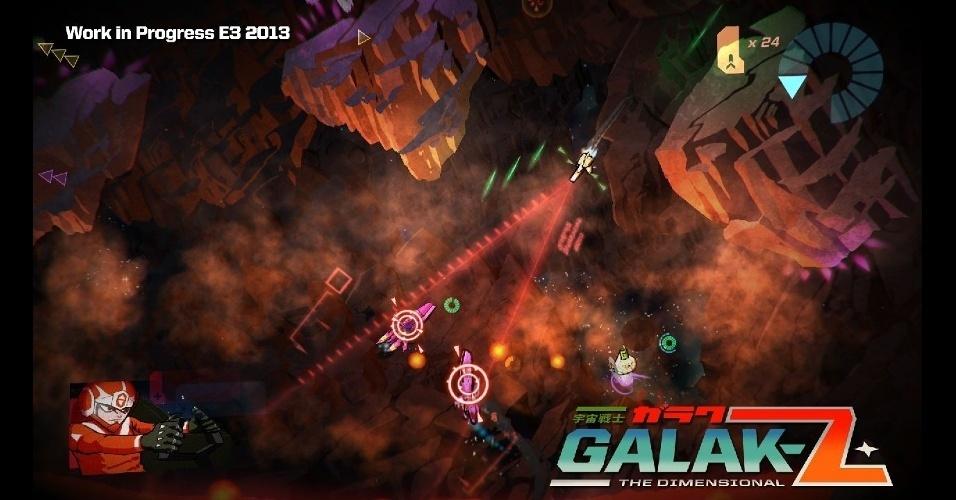 """""""Galak-Z: The Dimensional"""" é um jogo de tiro de naves espaciais, com nova roupagem"""