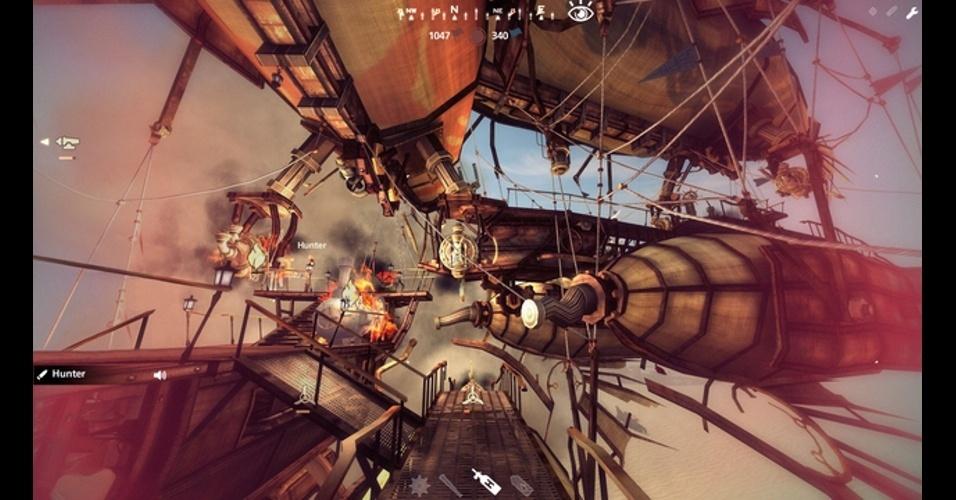 """""""Guns of Icarus Online"""" é um multiplayer focado em combates aéreos em um futuro pós-apocalíptico"""