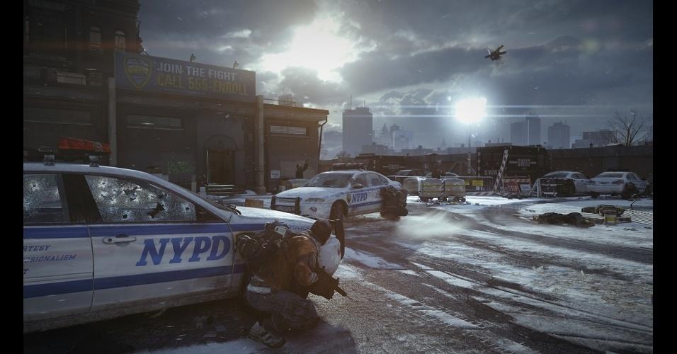 """""""Tom Clancy's The Division"""" trará um mundo online massivo e persistente em que jogadores se unirão em equipes para desbravar uma Manhattan pós-apocalíptica"""