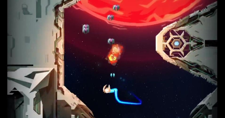 """""""Velocity 2X"""" traz batalhas espaciais e ação side-scrolling com a heroína Kai Tana"""