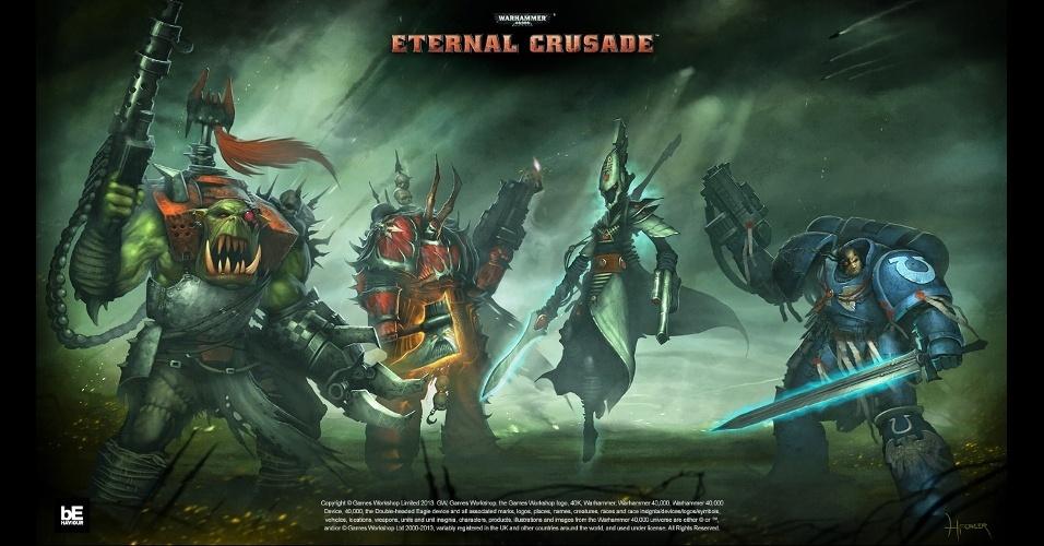 """Warhammer 40,000: Eternal Crusade """"Warhammer 40,000: Eternal Crusade"""" é um MMORPG que deverá chegar em 2015"""