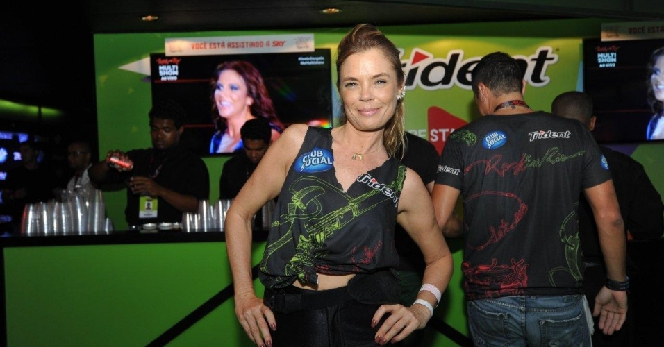 13.set.2013 - Alexia Dechamps curte primeira noite de shows do Rock in Rio em camarote