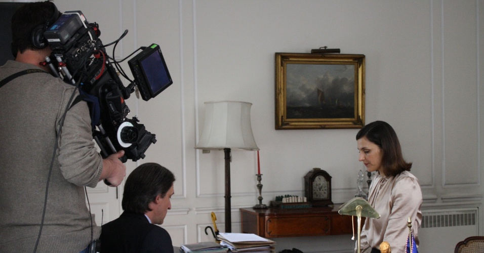 """13.set.2013 - Bastidores das gravações da série chilena """"Prófugos"""", cuja segunda temporada estreia domingo (15) na HBO"""