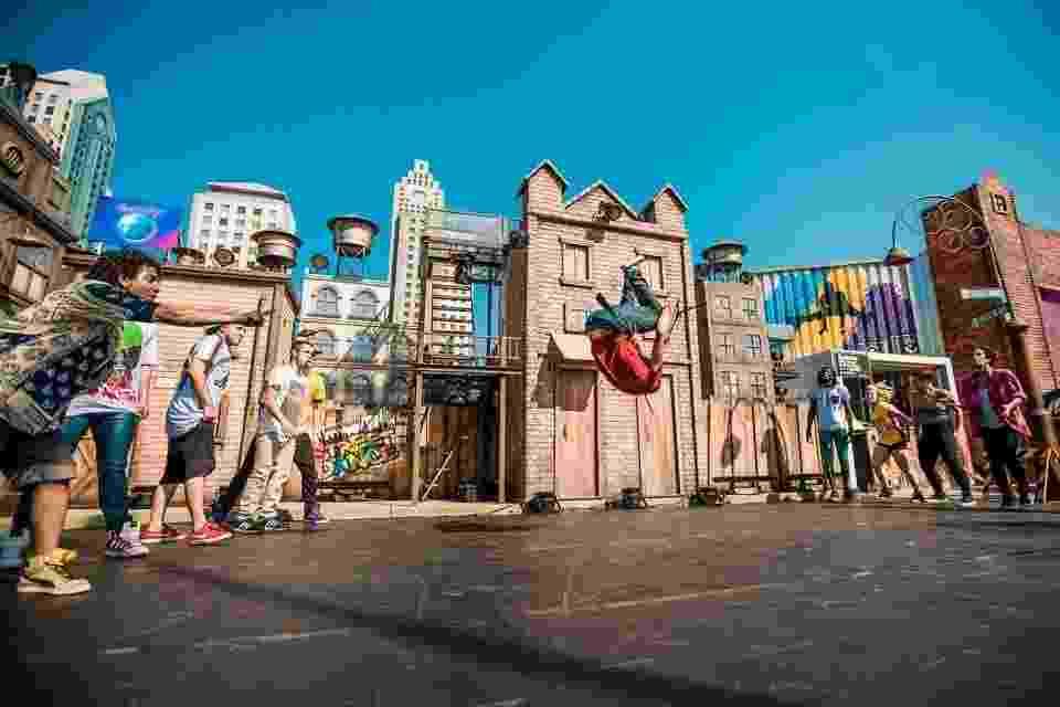 13.set.2013- Primeira apresentação no Palco Street Dance, na Cidade do Rock, começou na tarde desta sexta-feira, 13 - Reprodução/Facebook