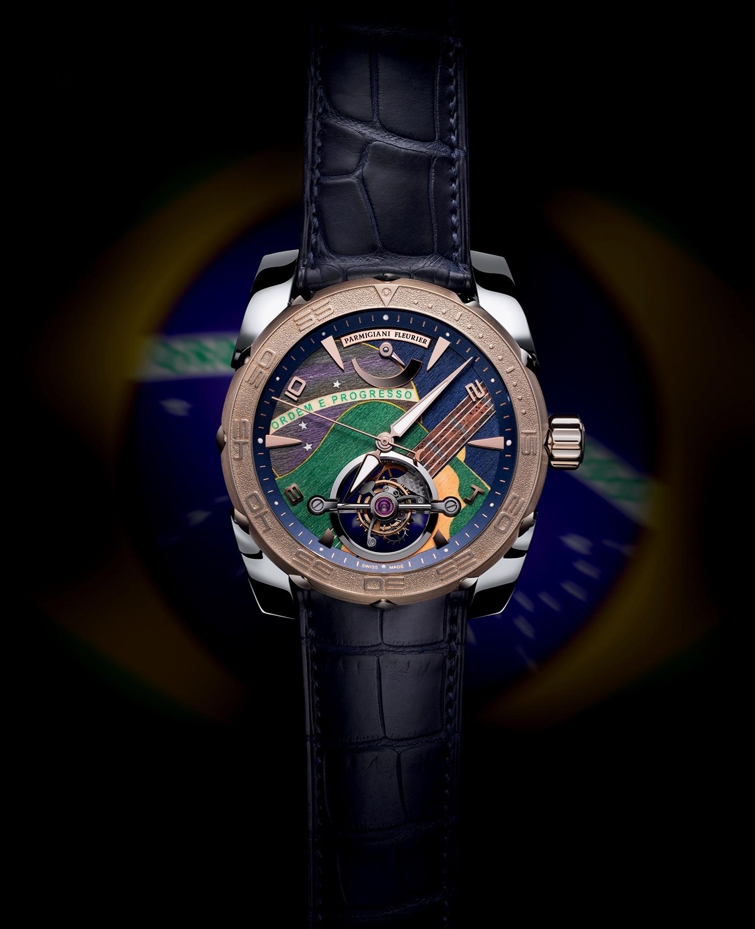 ca3ca4c262c Relojoaria suíça assina relógio de luxo com cores do Brasil - 14 09 2013 -  UOL Universa