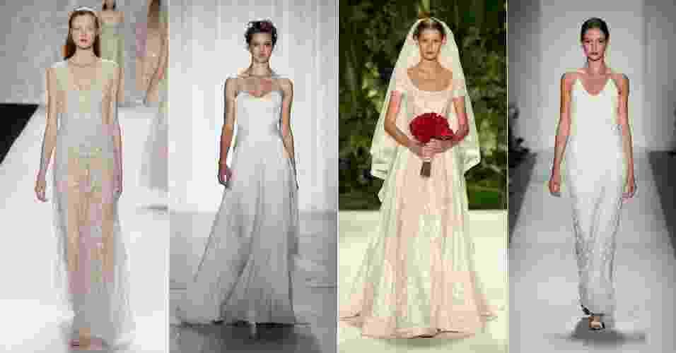A Semana de Moda de Nova York, abriu a temporada de desfiles com coleções para o verão 2013. O UOL Casamento escolheu 30 modelos para as noivas se inspirarem; veja a seguir - Getty Images
