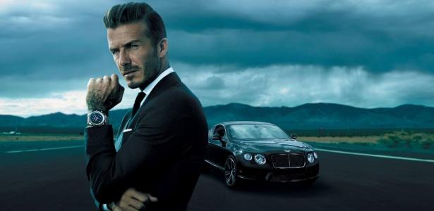 O ex-jogador de futebol David Beckham posa para a nova campanha da Breitling - Anthony Mandler/Breitling