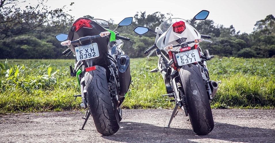 Triumph Daytona 675R vs. Kawasaki Ninja ZX-6R 636