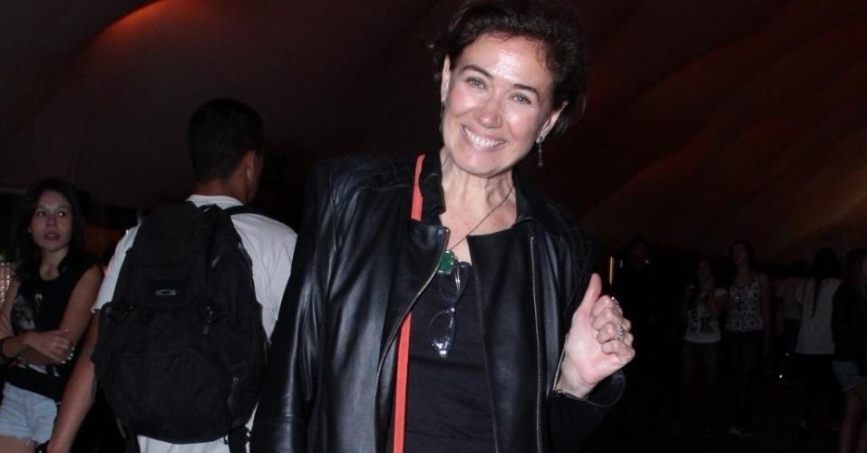 """13.set.2013 - A atriz Lilia Cabral, que está em """"Saramandaia"""", foi à primeira noite"""