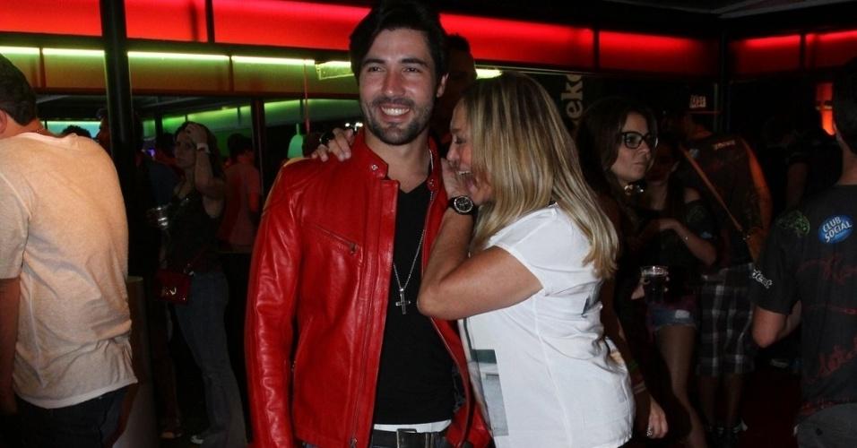13.set.2013 - Susana Vieira e Sandro Pedroso em camarote VIP no Rock in Rio