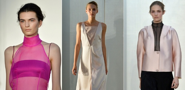 A gaúcha Barbara Casasola levou para sua primeira participação na semana da moda de Londres uma coleção inspirada no movimento moderno brasileiro - AFP