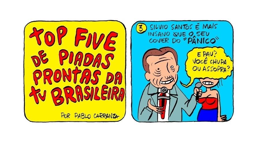 """17.set.2013 - Silvio Santos é mais insano que seu cover no """"Pânico"""""""