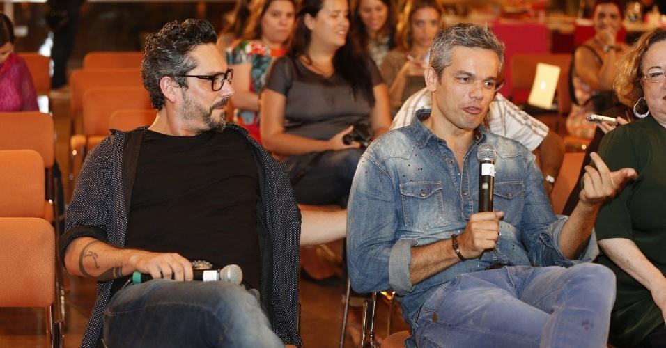 """16.set.2013 - Um dos participantes do programa """"Amor e Sexo"""", Otaviano Costa comparece à coletiva da atração"""