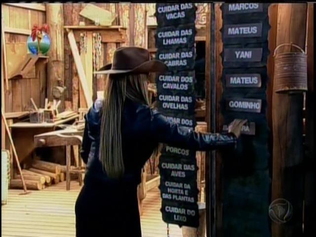 16.set.2013 - Denise dividiu as tarefas entre os peões