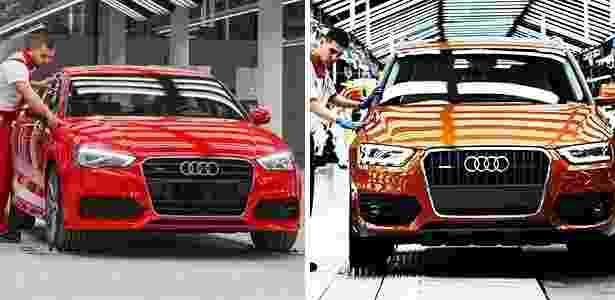 Audi anuncia A3 Sedan e Q3 nacionais - Montagem sobre Divulgação - Montagem sobre Divulgação