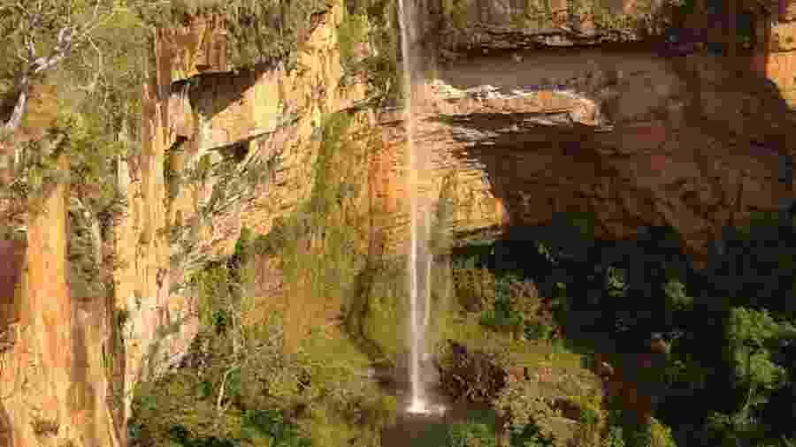 Cachoeira Véu de Noiva, na Chapada dos Guimarães, no Mato Grosso - Daniel Thompson/Arquivo pessoal
