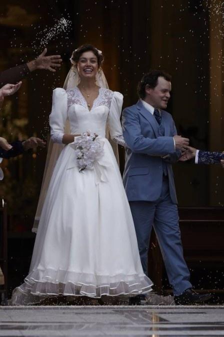Casamento dos personagens interpretados pelos atores Sophie Charlotte e Matheus Nachtergaele no filme