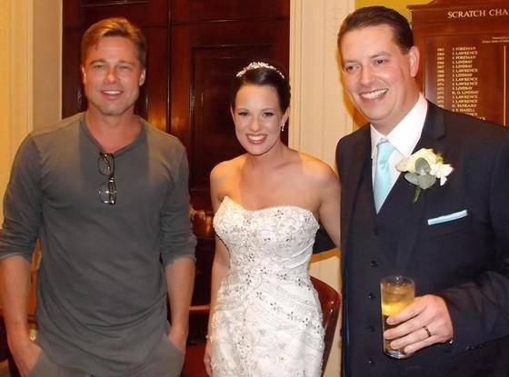 Brad Pitt no casamento de Abi e Daniel Lingwood