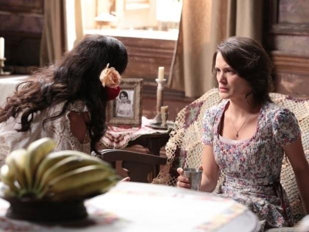 """Em """"Joia Rara"""", Amelia suspeita que esteja grávida de Franz"""