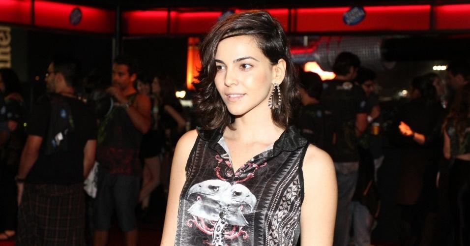 19.set.2013 -  A atriz Tainá Muller vai ao Rock in Rio no dia dedicado ao metal