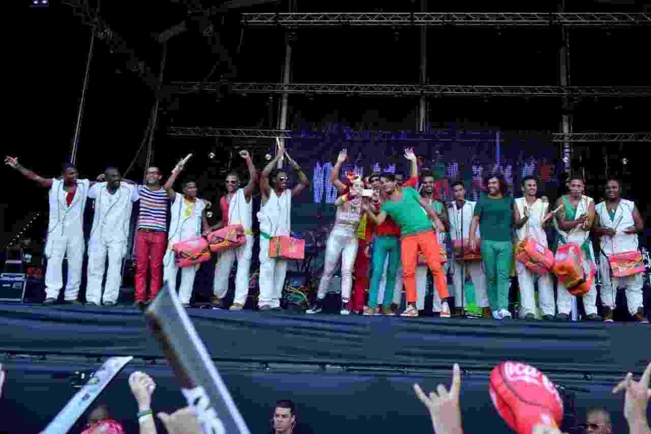 20.set. 2013 - A banda portuguesa The Gift e os brasileiros do Afrolata abrem o Palco Sunset nesta sexta-feira no Rock in Rio - Andre Muzell/AgNews