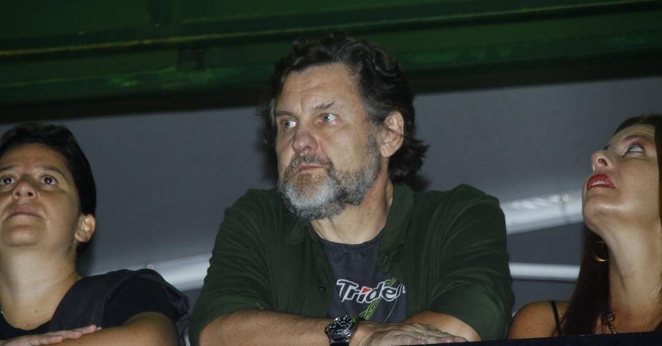 20.set.2013 - Antônio Calloni foi acompanhar o filho Pedro, de 19 anos, que é musico, no Rock in Rio