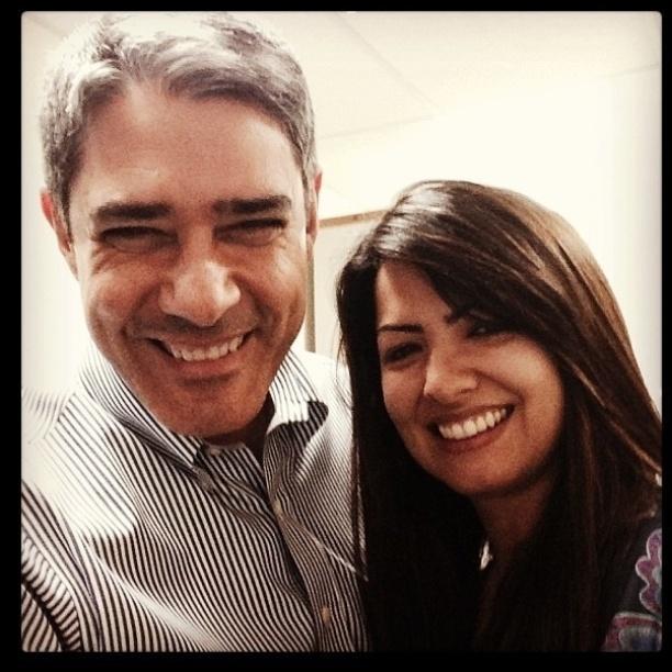 20.set.2013 - William Bonner postou uma foto no Instagram com Paula, irmã de Patrícia Poeta