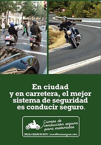 Folder da campanha de conscientização do Departamento de Gestão de Trânsito Espanhol