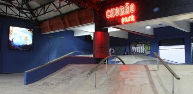 """Imagem da pista """"Chorão Skate Park""""  - Diculgação"""