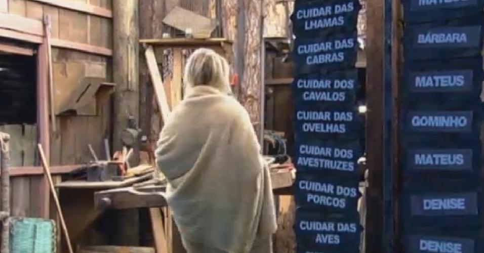 21.set.2013 - Bárbara distribui atividades para os peões
