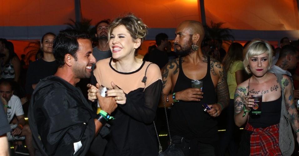 "22.set.2013 - Bárbara Paz vai ao último dia de Rock in Rio e comenta lista de ""vipinhos"" e ""vipões"""