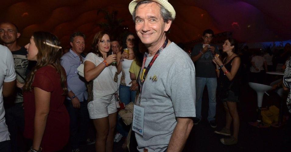 21.set.2013 - Serginho Groisman vai ao Rock in Rio para o show do Bruce Springsteen