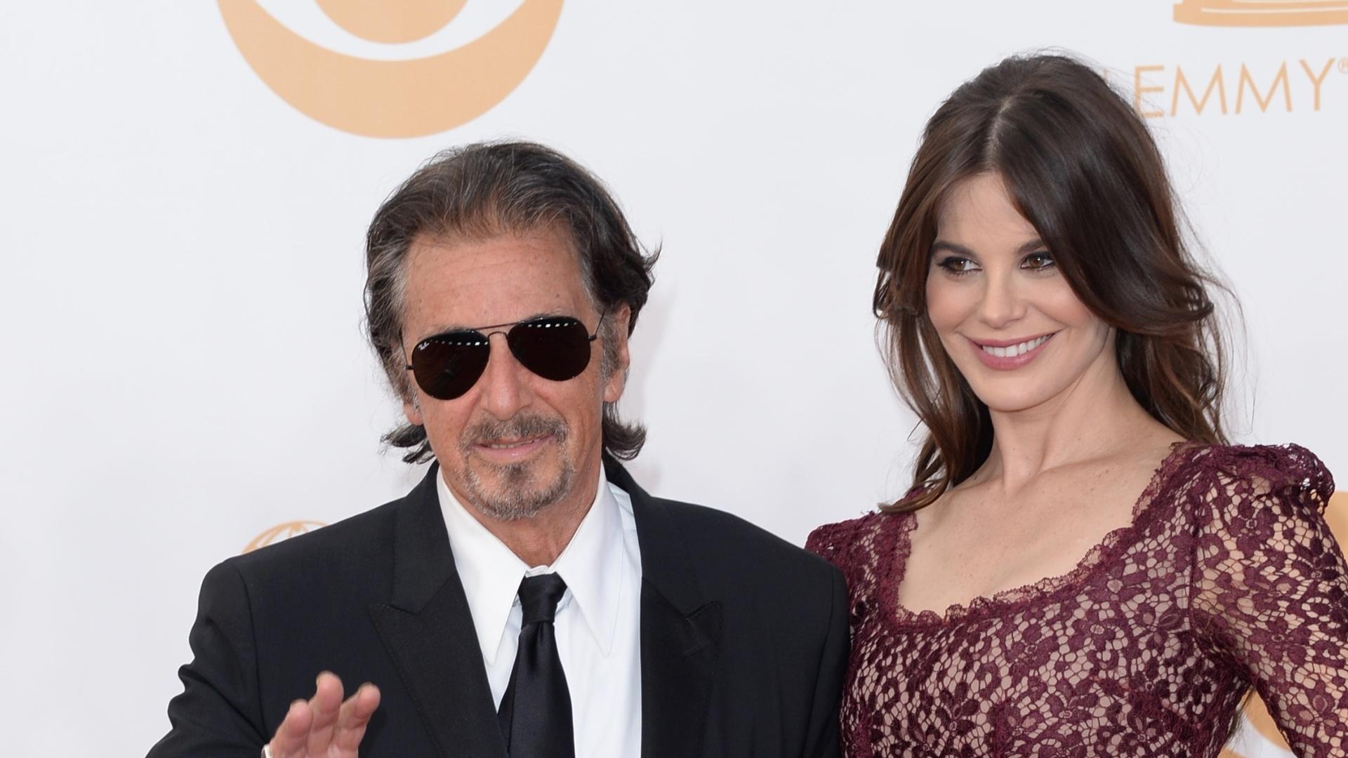 22.set.2013 - Al Pacino e a mulher Lucila Sola chegam à 65ª cerimônia do Emmy