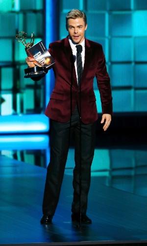 """22.set.2013 - Derek Hough de """"Dancing With the Stars"""", vencedor do Emmy de Melhor Coreografia"""
