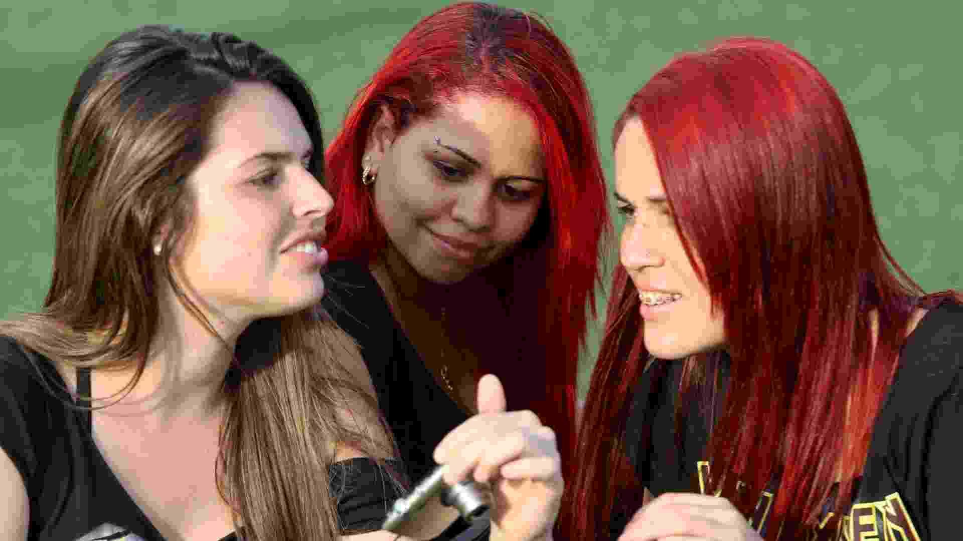 22.set.2013 - Tons de vermelho nas madeixas mostraram sua popularidade na Cidade do Rock - Fernando Maia/UOL