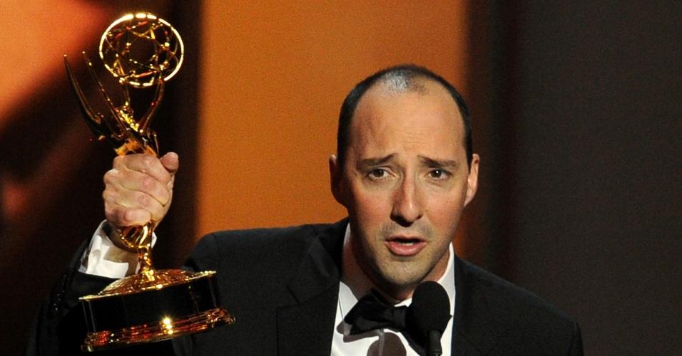 22.set.2013 - Tony Hale (Veep) vencedor na categoria Melhor ator coadjuvante em série de comédia no Emmy Awards
