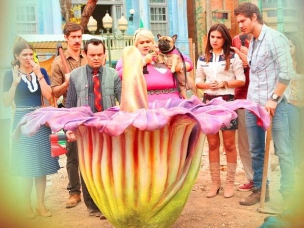 """Em """"Saramandaia"""", Bitela pede para Encolheu cortar a flor de Redonda"""