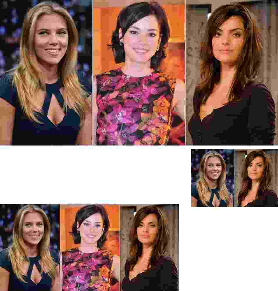 Scarlet Johansson, Regiane Alves, Mayana Neiva - Getty Images/TV Globo/MontagemUOL