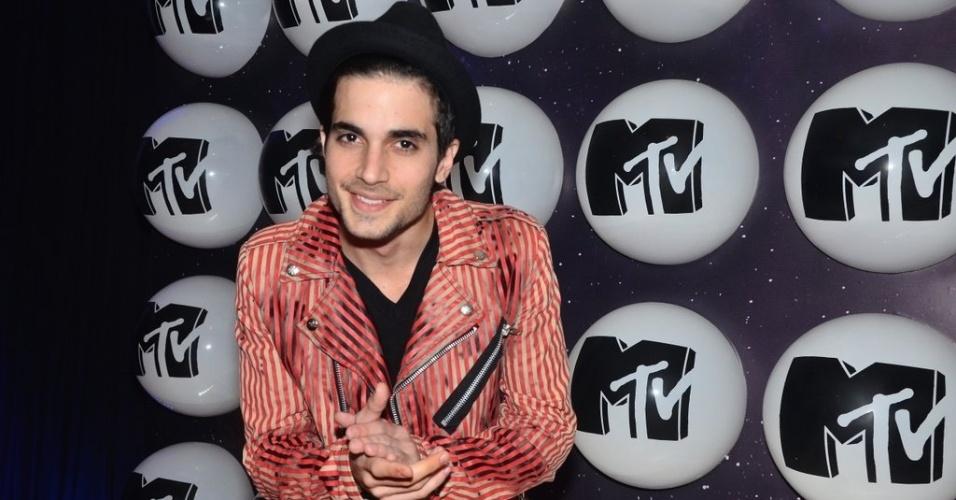 24.set.2013 - Fiuk na festa de lançamento da MTV, na Casa Petra, em São Paulo