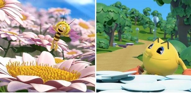 As animações A Abelha Maya e Pac-Man estreiam nos próximos dias na TV paga