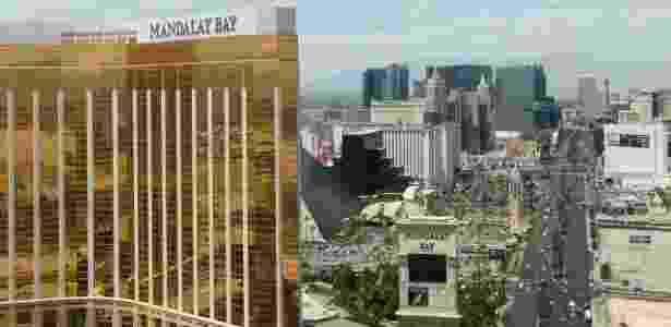 Vista aérea da Las Vegas Strip, principal avenida de Las Vegas - Marcel Vincenti/UOL