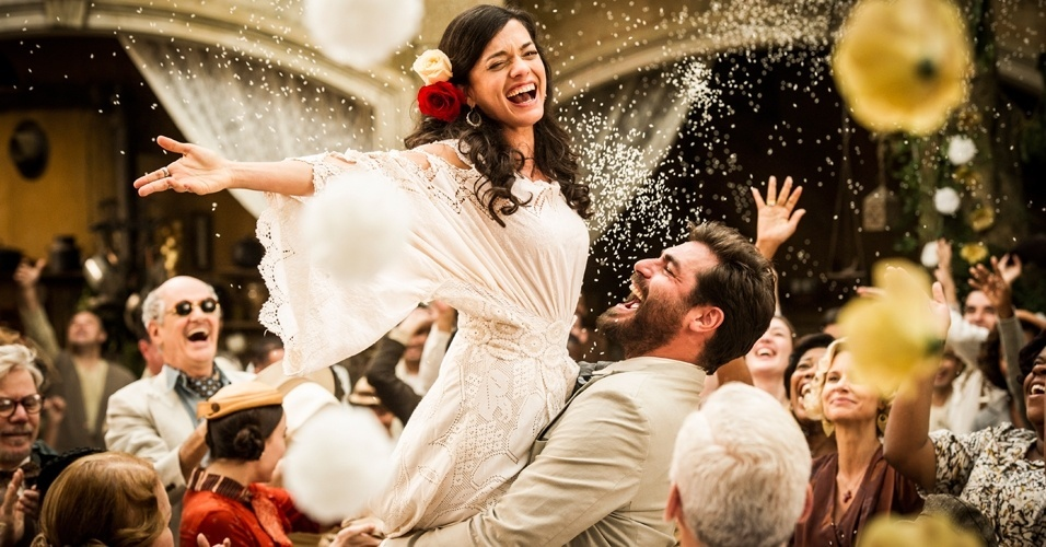 Cena do casamento de Gaia (Ana Cecília Costa) e Toni (Thiago Lacerda) na novela